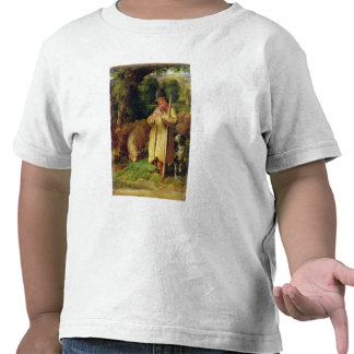 Muchacho del pastor, 1831 (aceite en el panel) camiseta