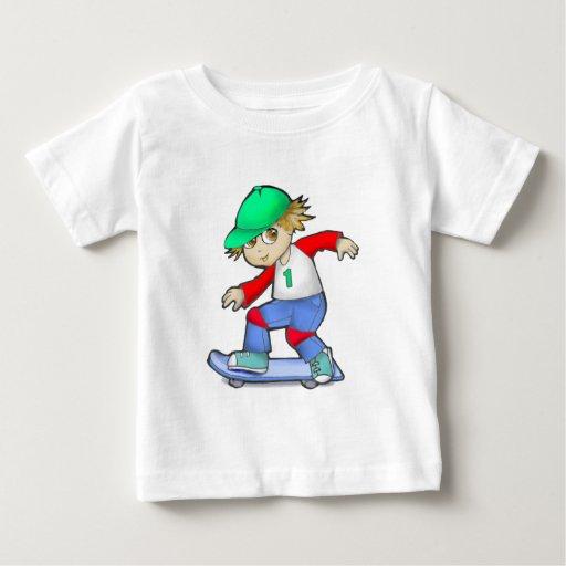 Muchacho del patinador tee shirts