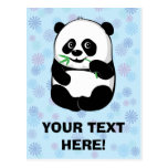 Muchacho del pequeño panda [personalice] postal