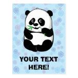 Muchacho del pequeño panda [personalice] postales