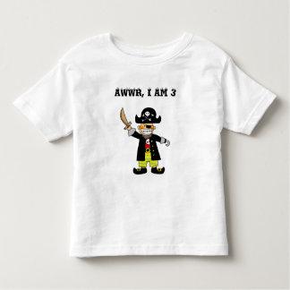 muchacho del pirata de 3 años playera
