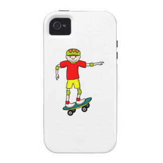 Muchacho del skater iPhone 4/4S fundas