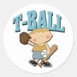 Muchacho del T-Ball Etiqueta