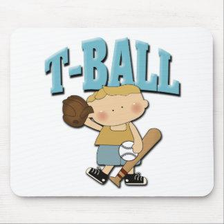 Muchacho del T-Ball Tapetes De Raton
