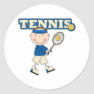 Muchacho del tenis pegatinas redondas