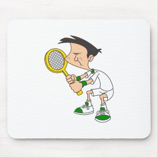 Muchacho del tenis tapetes de raton