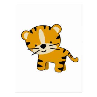 Muchacho del tigre del dibujo animado del bebé postal