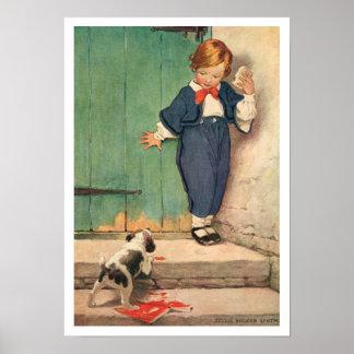Muchacho del Victorian del vintage, poster de la i