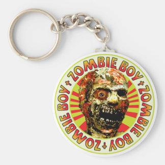 Muchacho del zombi llavero personalizado