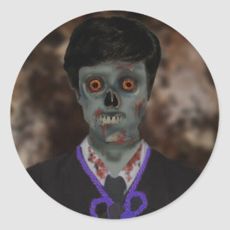 Muchacho del zombi U Pegatina Redonda