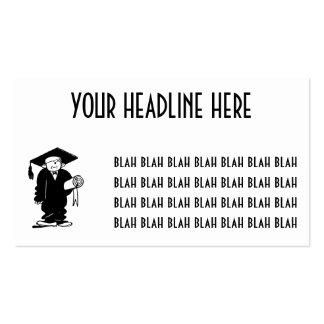 Muchacho divertido negro y blanco del vintage tarjetas de visita
