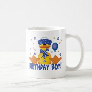 Muchacho Ducky del cumpleaños del fiesta Taza