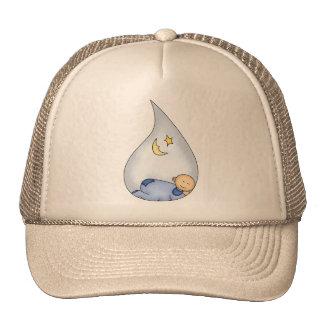 Muchacho durmiente gorras