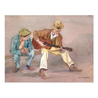 ¡Muchacho, él puede seguro tocar esa guitarra! Tarjeta Postal