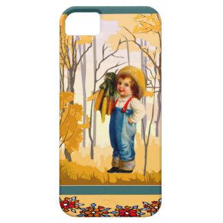 Muchacho en el campo de maíz funda para iPhone SE/5/5s