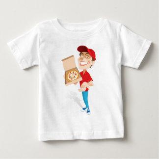 Muchacho en el gorra que entrega la pizza tshirt