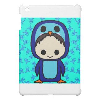 Muchacho en el juego de pingüino (club de Kawaii)