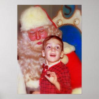 Muchacho en el revestimiento de Santa - foto nostá Póster