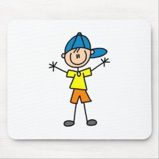 Muchacho en la gorra de béisbol Mousepad