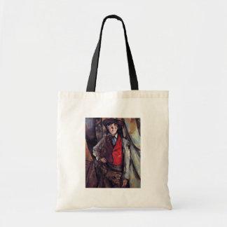 Muchacho en un chaleco rojo, por Paul Cézanne Bolsa
