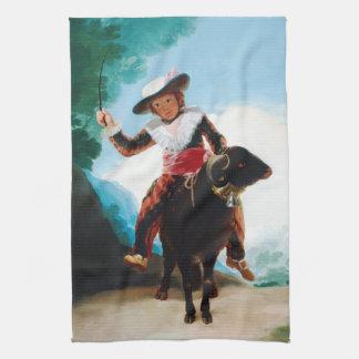 Muchacho en un espolón Francisco José de Goya Toalla De Cocina