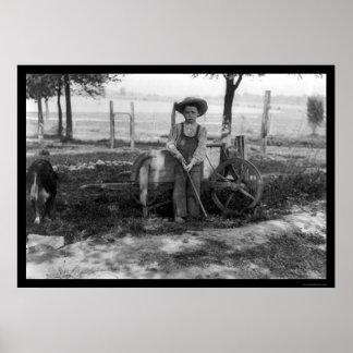 Muchacho en una granja 1914 posters