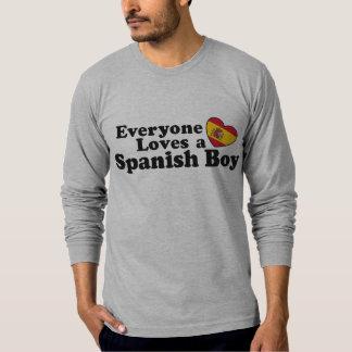 Muchacho español playera
