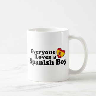 Muchacho español taza de café
