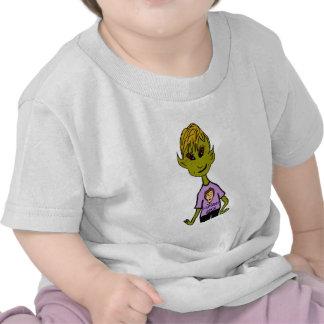 Muchacho extranjero - roca de los seres humanos camiseta