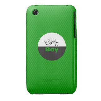 Muchacho femenino verde iPhone 3 Case-Mate cobertura
