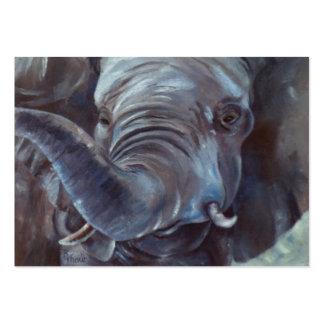 Muchacho grande ArtCard del elefante Tarjetas De Visita Grandes
