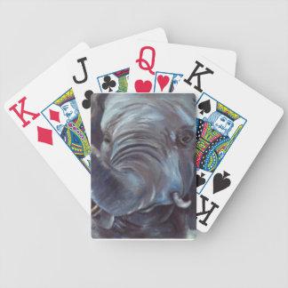 Muchacho grande del elefante baraja de cartas