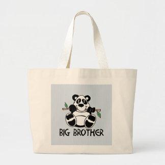 Muchacho hermano mayor de la panda bolsa tela grande