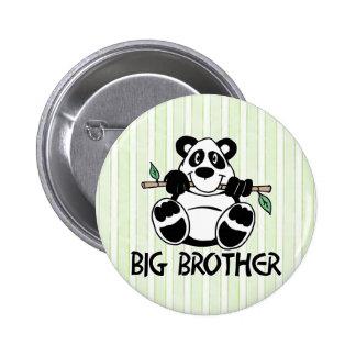 Muchacho hermano mayor de la panda pin redondo de 2 pulgadas