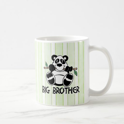 Muchacho hermano mayor de la panda taza básica blanca