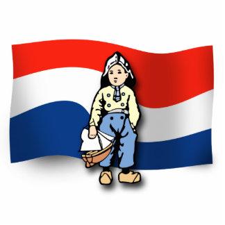 Muchacho holandés fotoescultura vertical