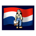 Muchacho holandés postal