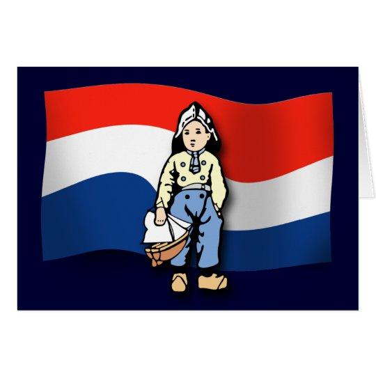Muchacho holandés tarjeta de felicitación