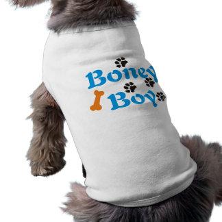 Muchacho huesudo de la camisa del perro de PawsID Playera Sin Mangas Para Perro