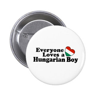 Muchacho húngaro pin redondo de 2 pulgadas