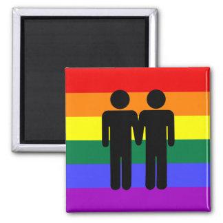 Muchacho + Imán del arco iris del muchacho