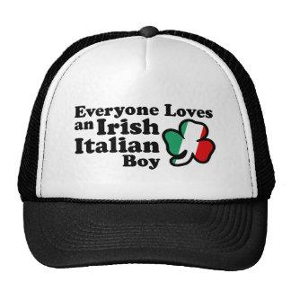 Muchacho italiano irlandés gorra