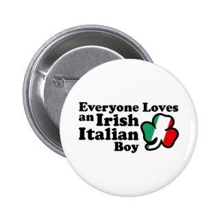 Muchacho italiano irlandés pin redondo 5 cm