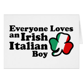 Muchacho italiano irlandés tarjeta de felicitación