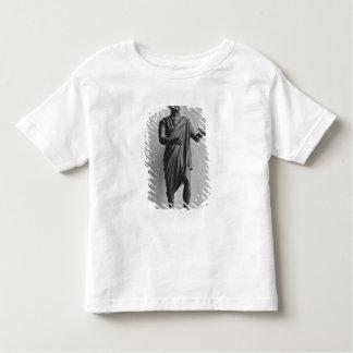 Muchacho joven con un pájaro, tarde republicano t-shirt