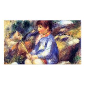 Muchacho joven de Pedro-Auguste Renoir- por el río Tarjetas De Visita