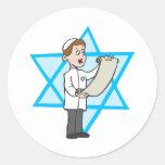Muchacho judío etiqueta