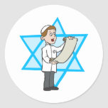 Muchacho judío etiqueta redonda