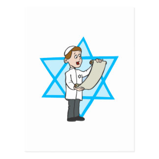 Muchacho judío postal