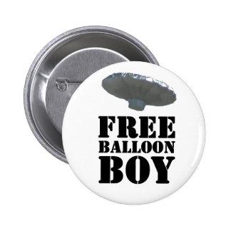 Muchacho libre del globo pin redondo 5 cm